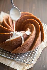 eggnog bundt cake with rum glaze the little epicurean