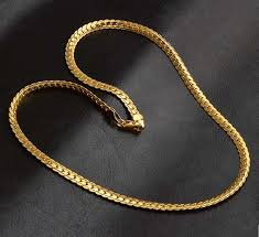 gold colored chain necklace images Gold color 5mm curb chain necklace watch shop jpg