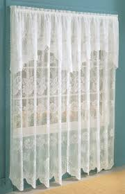 How To Hang Curtain Swags by Anna Lace Panel W Attached Valance U2013 Eggshell U2013 Lichtenberg