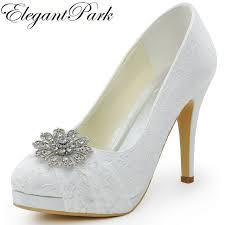 wedding shoes platform aliexpress buy hc1413p woman wedding shoes white high heel