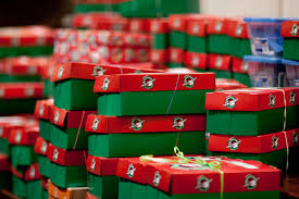 local volunteers to collect shoebox gifts for children the