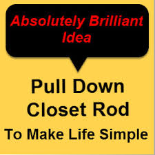 pull down closet rod shopping best finds