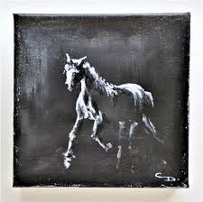 Abstract Home Decor Horse Art Abstract Home Decor Rustic Farmhouse Black And White