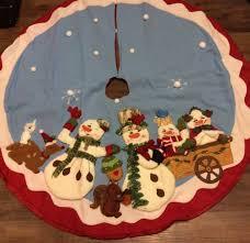 homco home interiors christmas snowman tree skiirt u2022 12 99 picclick