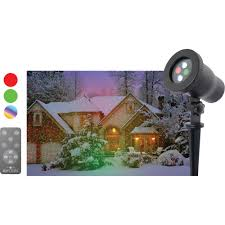 Outdoor Christmas Light Projector by Night Stars Premium Series Outdoor Laser Christmas Light Projector