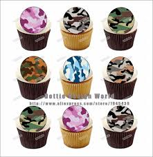 edible cake topper 24 army camouflage edible cake topper wafer rice paper