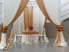 wedding backdrop linen and gold ivory flower wall frame backdrop decor ideas