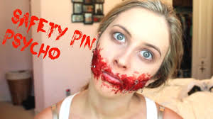 halloween makeup smile safety pin psycho sfx halloween tutorial spreadinsunshine15