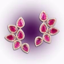 diamond earrings design split design diamond earrings raj diamonds
