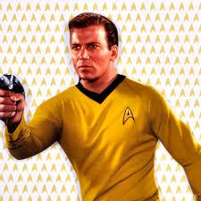 captain kirk star trek greeting card with sticker sheet pink