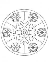 mandala inverno fiocco neve mandala mandala