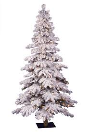 simple decoration frosted tree 7 5 ft pre lit