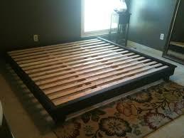 platform king bed frame with storage metal platform king bed