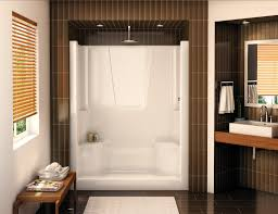 shower enclosures seat with from acrylic to decor