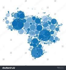 blue shades color abstract map venezuela filled circles different stock illustration