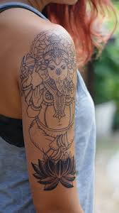 ganesha tattoo on shoulder ganesha tattoo arm piece pre shading by janaya singer craftsman