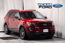 ford explorer 2017 new 2017 ford explorer sport ruby red tinted c c met for sale