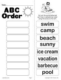 abc order cut and paste the words in alphabetical order then