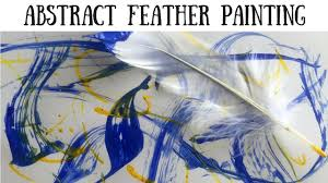 art projects for kids abstract feather painting youtube