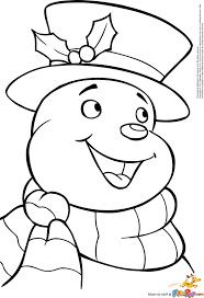 snowman coloring page u2013 free snowman clipart template printable