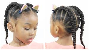 Haircuts For Little Girls Ponytail Cornrow Hairstyles For Little Girls Natural Hairstyle