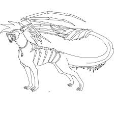 demon hound lineart color sheet free to use by dragonlover1290 on