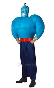 genie halloween costumes disney aladdin genie mens fancy dress adults cartoon arabian
