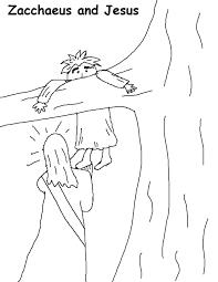 Coloring Zacchaeus Coloring Pages Zacchaeus Coloring Page