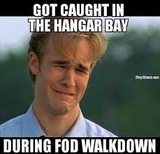 Meme Down - caught in hanger bay during fod walk down navy memes clean