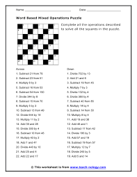 math puzzles worksheet free worksheets library download and