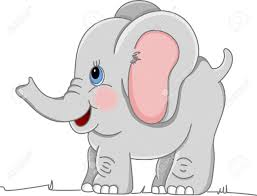 gray clipart elephant cartoon pencil and in color gray clipart