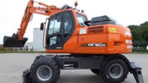 daewoo doosan dx140w dx160w wheel excavator operation and