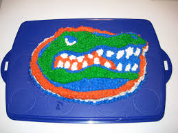 florida gators gator cake pan with stand by fanpans
