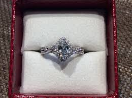 halo rings red images Red box sale 50 off marquise diamond halo ring neenah wi jpg