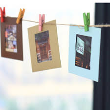 compare prices on picture frames clips online shopping buy low 10pcs creative home decoration diy wall hanging paper photo picture frame with jute rope wooden clip