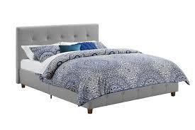 dhp rose linen tufted upholstered platform bed bed frame u0026 box