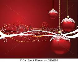 vector illustration of christmas baubles on decorative background