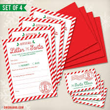 official letters from santa official letter to santa kit set of 4 letters