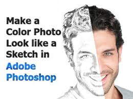 adobe photoshop tutorial make a color image look like a sketch