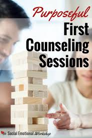 a first counseling session are a unique time to build rapport