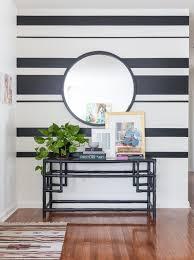 holly u0026 ryan u0027s modern vintage mix striped walls inspiration