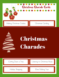 christmas charades family christmas party game
