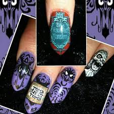 haunted mansion nails by jolgordons nails pinterest haunted
