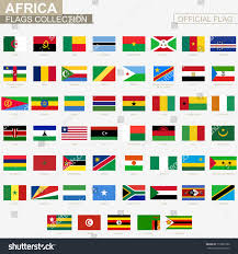 Flags Of African Countries National Flag African Countries Official Vector Stock Vector