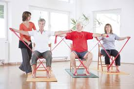 Chair Exercises For Seniors Theraband Exercises For The Elderly Exercises Chair Exercises
