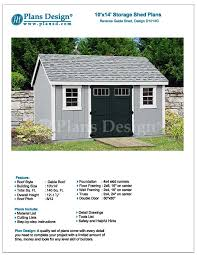 Free Wood Shed Plans Materials List by Mccarte 10x16 Shed Plans Download