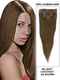 Online Clip In Hair Extensions by 16 Inch 7 Pcs Clip In Straight Brazilian Human Hair Extensions 2