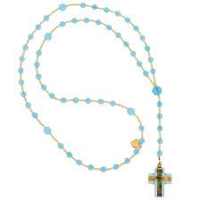 italian rosary murano glass rosary murano glass italian rosary light blue