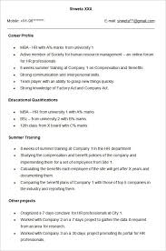 Sample Hr Resume For Experienced by Commercetools Us Sample Hr Resumedoc 7471068 Hr Resume Format