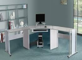 White Corner Workstation Desk White Corner Computer Desk For Fabri Wooden In With